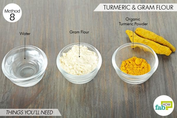 things needed to use turmeric for skin lightening with gram flour
