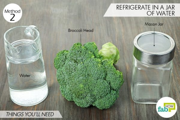 things needed to store broccoli