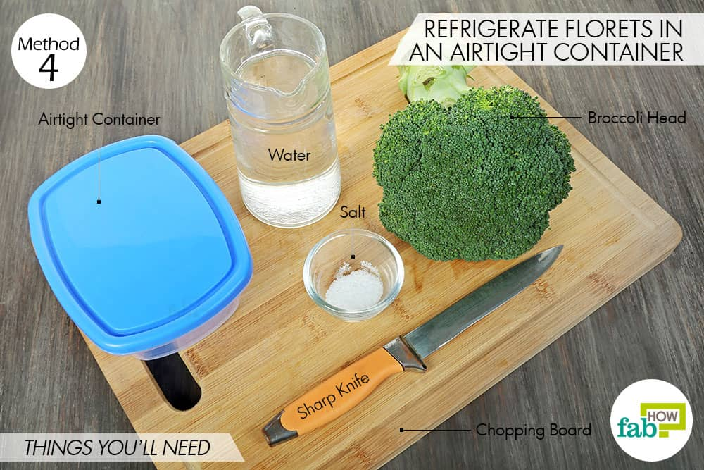 how to keep broccoli fresh longer
