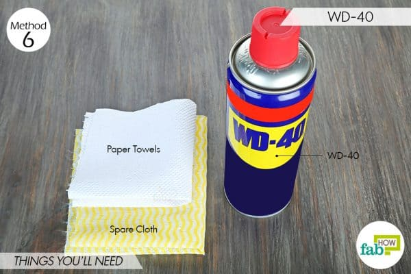 things needed to clean food grease stains from clothes using WD-40