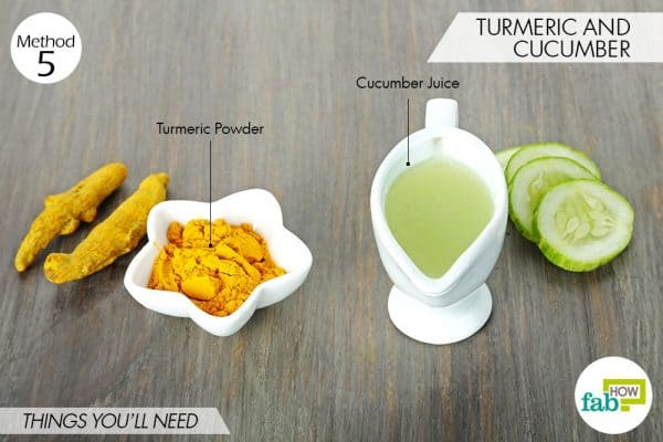 things needed to use turmeric for oily skin with cucumber