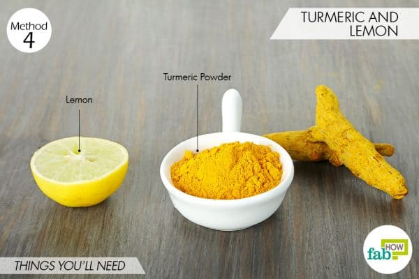 things needed to use turmeric for oily skin with lemon