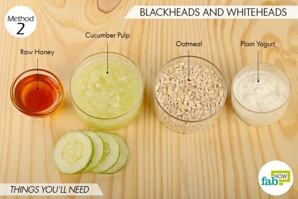 things needed to use oatmeal for beauty-to get rid of blackheads and whiteheads