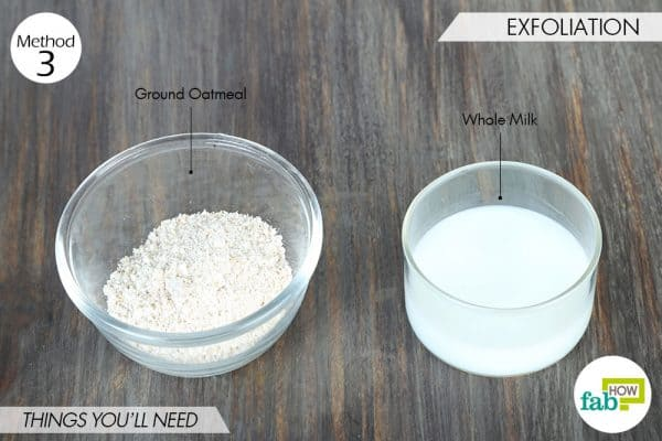 things needed to use oatmeal for beauty-to exfoliate skin