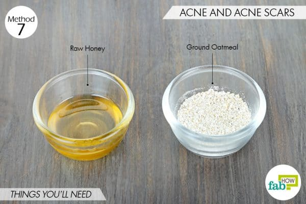 things needed to use oatmeal for acne and acne scars