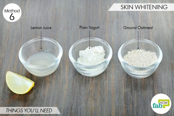 things needed to use oatmeal for beauty-to whiten skin