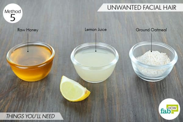 things needed to use oatmeal for beauty-to get rid of unwanted facial hair