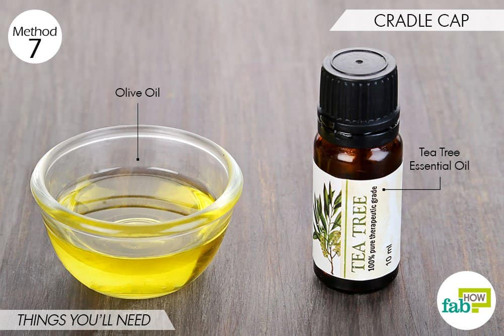 things needed to use tea tree oil for fungal infections-cradle cap