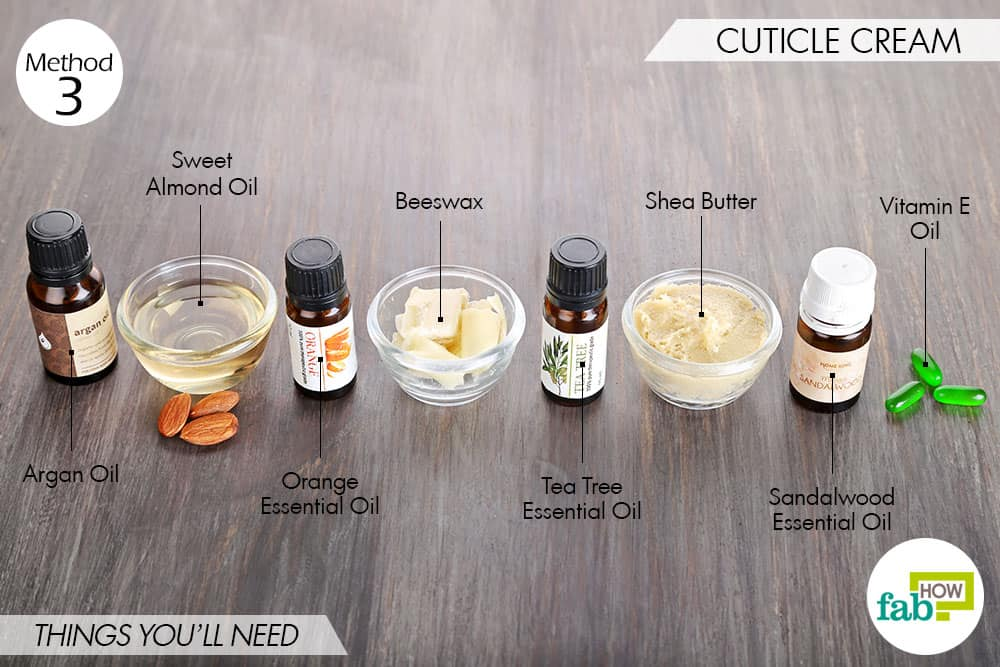 thinsg needed to make DIY cuticle cream