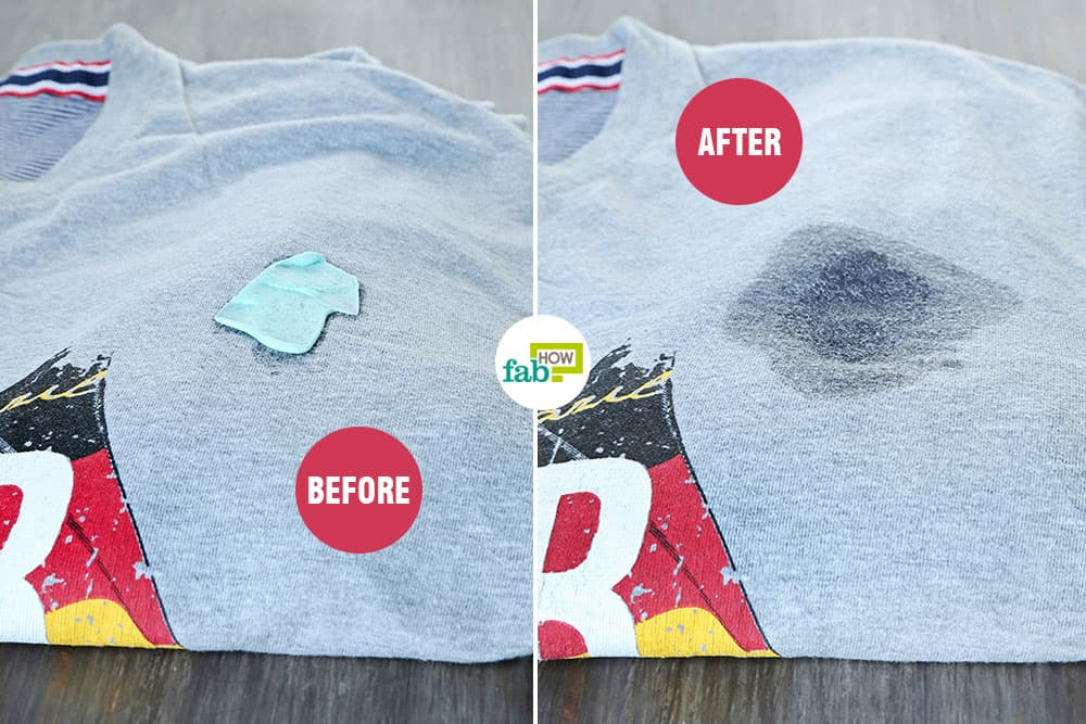 feat how to remove chewing gum from clothes