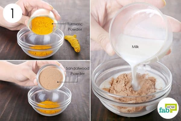 Combine all ingredients to use turmeric for dark spots