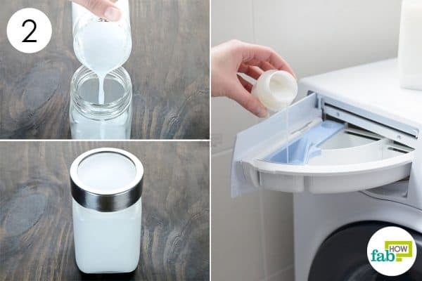 pour the blend in washing machine to make fabric softener