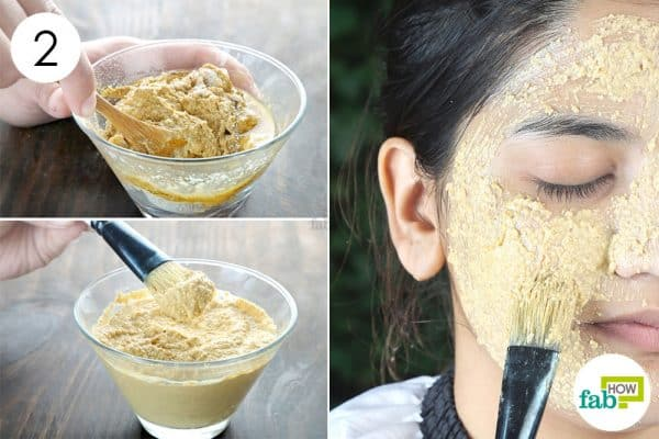 mix well and apply to make oatmeal face mask for blackheads