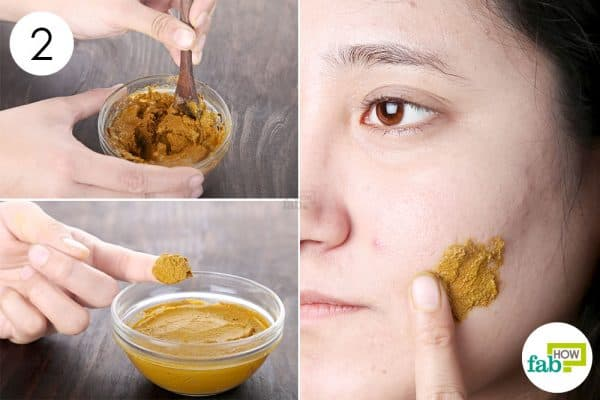 Mix well and apply to use turmeric for dark spots