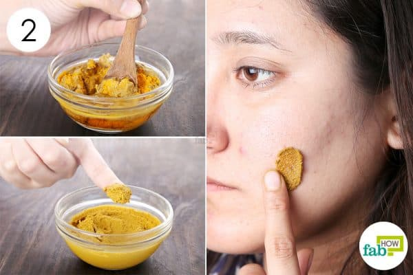 Blend well and apply to use turmeric for dark spots