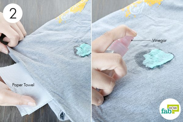 soak the gum with vinegar to remove chewing gum from clothes