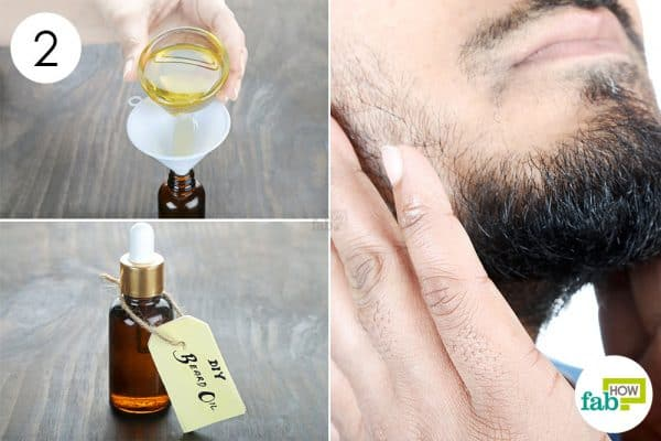 store the beard oil in a dark bottle to make DIY Beard Oil