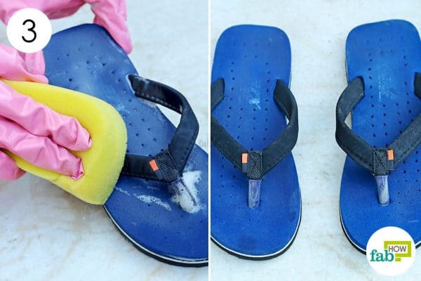 rinse and let it dry to clean flip-flops