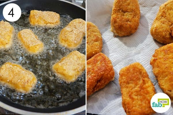 fry them to make ham croquettes