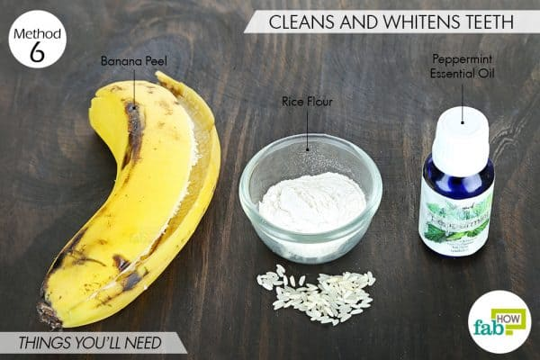 Things you'll need to whiten teeth with banana peel for heath and beauty