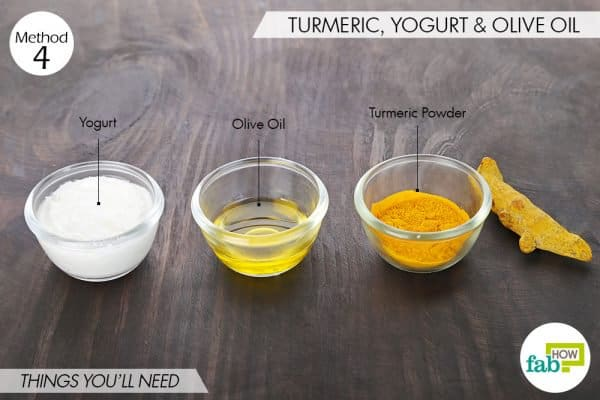 Things you'll need to use turmeric and yogurt for dark spots