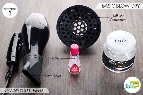 things you'll need to blow-dry curly hair with basic technique