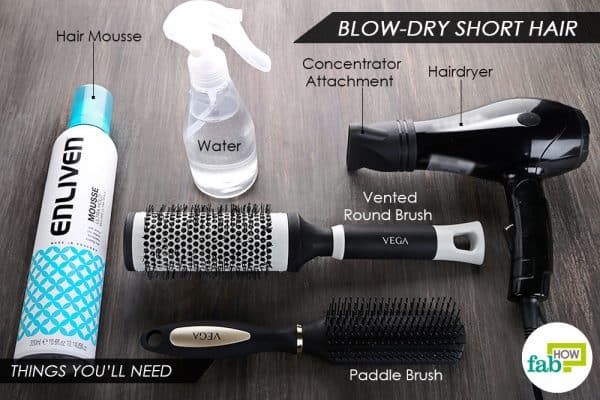 things you'll need to blow-dry short hair