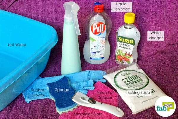things needed to clean glass stovetop