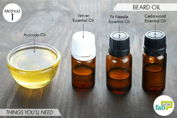 things you'll need to make DIY beard oil