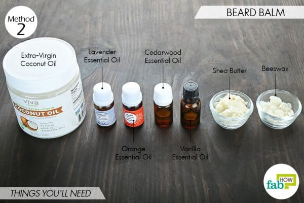 things you'll need to make DIY beard oil or balm
