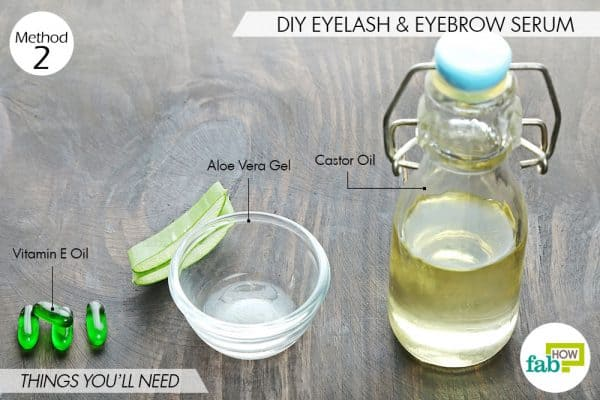 things you'll need to make serum to use castor oil for thicker eyebrows and lashes