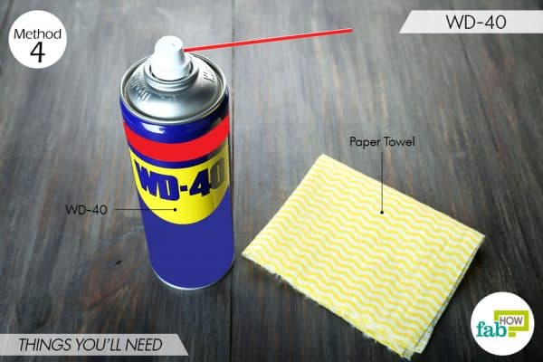 things you'll need to remove chewing gum from clothes using WD-40