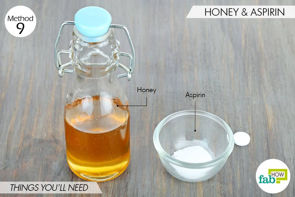 things you'll need to use aspirin and honey for acne