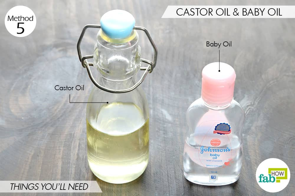 things you'll need to use castor oil for thicker eyebrows and lashes along with baby oil