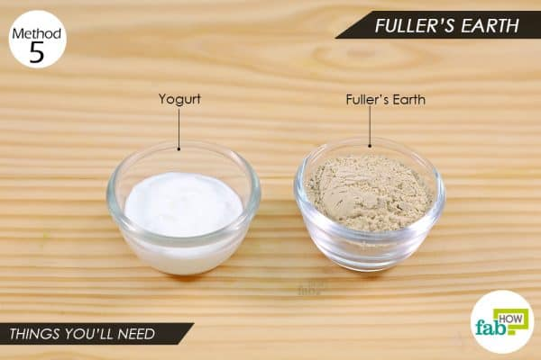 things you'll need to make Fuller's Earth pack to remove Holi color from skin