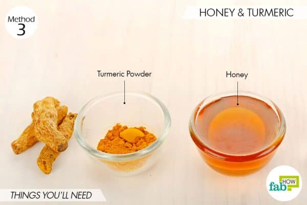 things you'll need to use turmeric and honey for acne