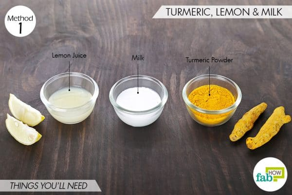 things you'll need to use turmeric with milk for dark spots