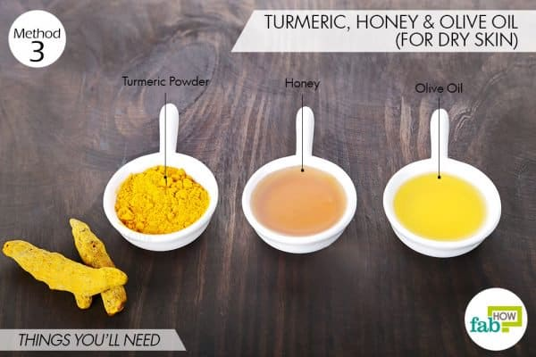 things you'll need to use turmeric for dark spots on dry skin