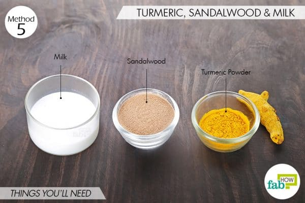 Things you'll need to use sandalwood and turmeric for dark spots
