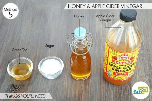 things you'll need to use apple cider vinegar and honey for acne