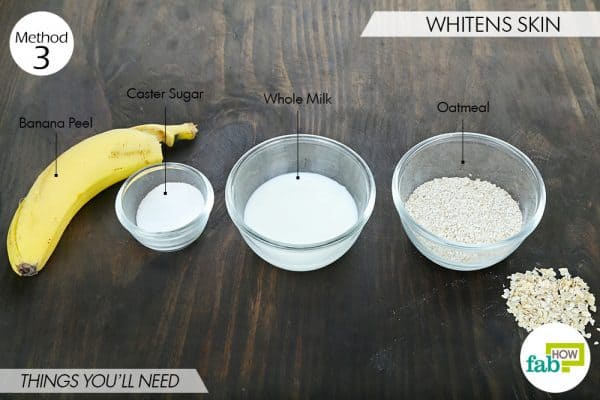 Things you'll need to whiten skin with banana peel for heath and beauty