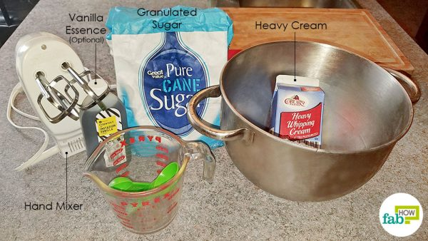 things you'll need to make homemade whipped cream
