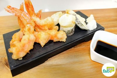 feat to make prawn tempura