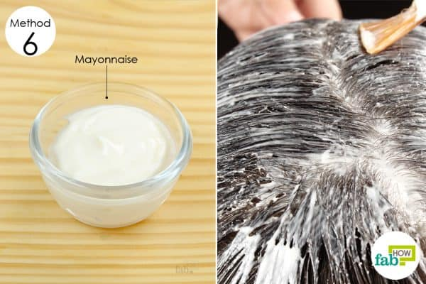 mayonnaise home remedies dry flaky scalp