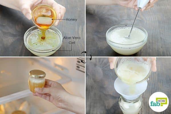 mix honey in the gel to store aloe vera
