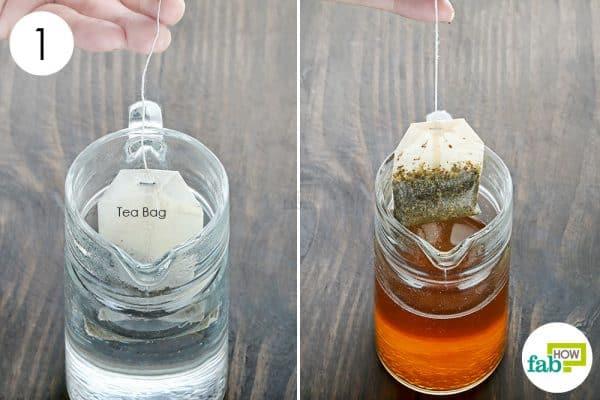 brew flavored tea to make aloe vera tea