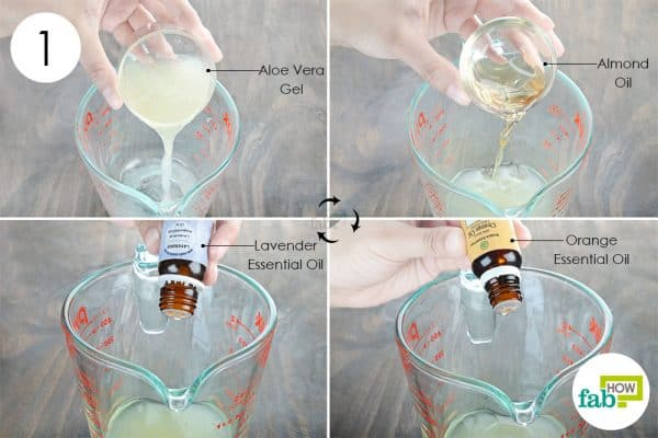 combine all ingredients to make diy homemade aftershave spray