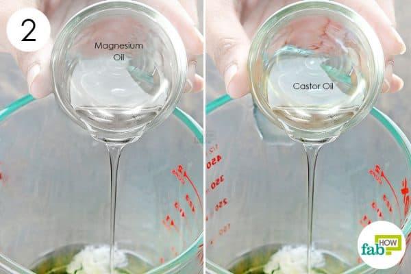 add magnesium and castor oil to make diy homemade headache balm