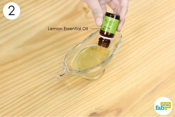 add lemon essential oil to make diy homemade makeup remover
