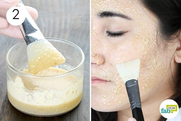 apply oatmeal face mask for acne